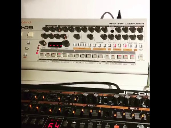 Roland Tr-09 and Roland JP-08 New York hard house