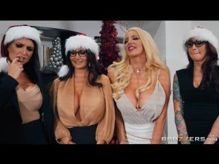 Ava Addams & Monique Alexander & Nicolette Shea & Romi Rain (Office 4-Play: Christmas Bonuses)[2017,Christmas,1080p]