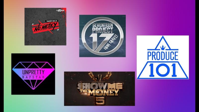 Любимы моменты из музыкальных k-pop шоу Produce 101, SMTM5...