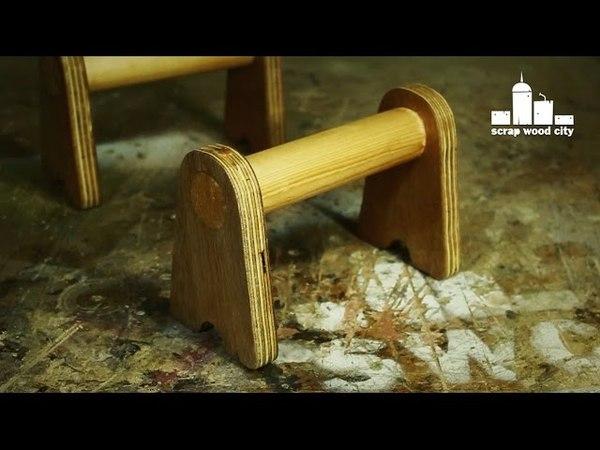 DIY wooden push up handles