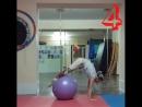 Упражнения на фитболе для спины Юлия Денисюк