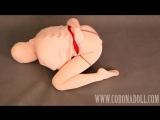 Small Tits Girl Self-Bondage 3mm Super Thick Mummy Zentai and Kigurumi mask