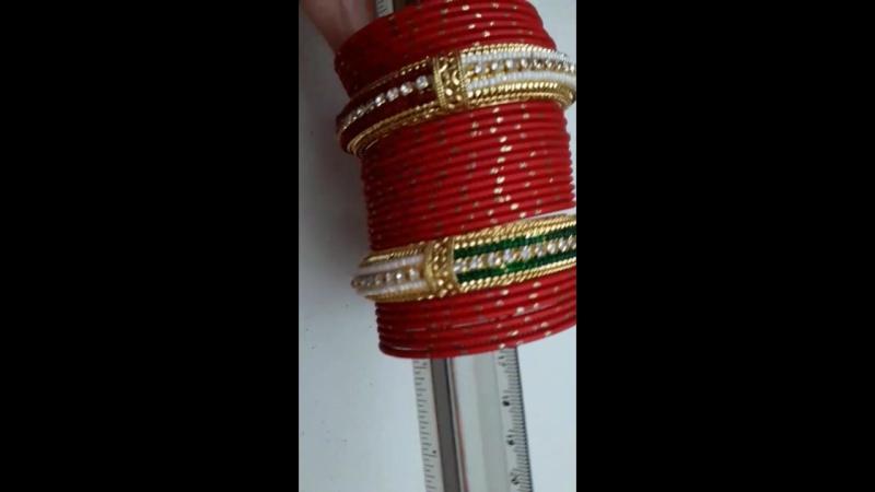 Красные браслеты с када