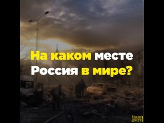 На каком месте Россия в мире?