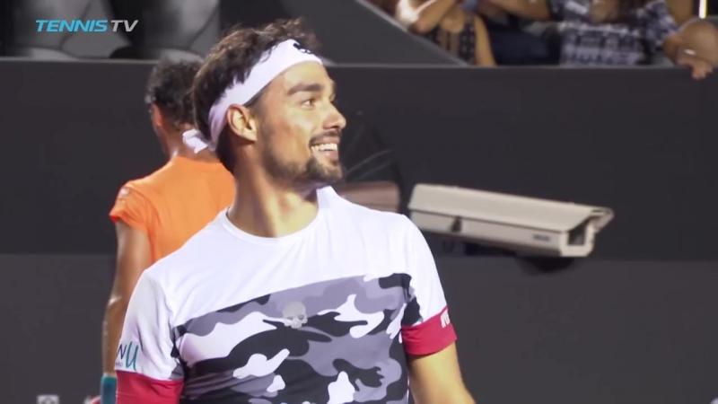 Hot Shot- Fabio Fognini Loses Racquet, Wins Point In Rio 2018 / tennis insight