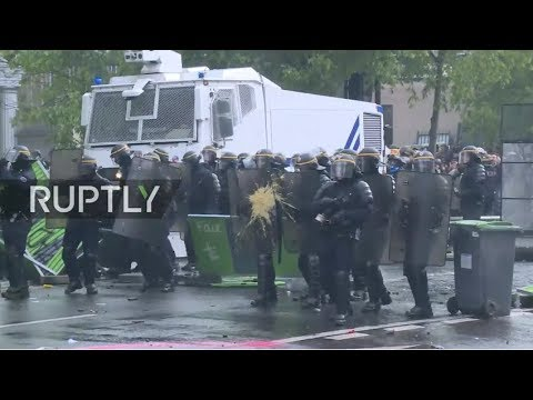 LIVE: Labour demonstrations mark International Workers' Day in Paris