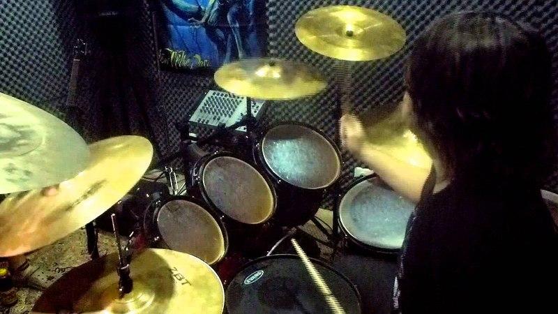 BEST HEADBANG EVER Defiler Walk in the Glow On Drums