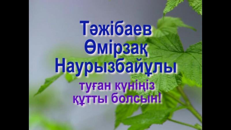 Тәжібаев Өмірзақ Наурызбайұлын туған күнімен құттықтаймыз!