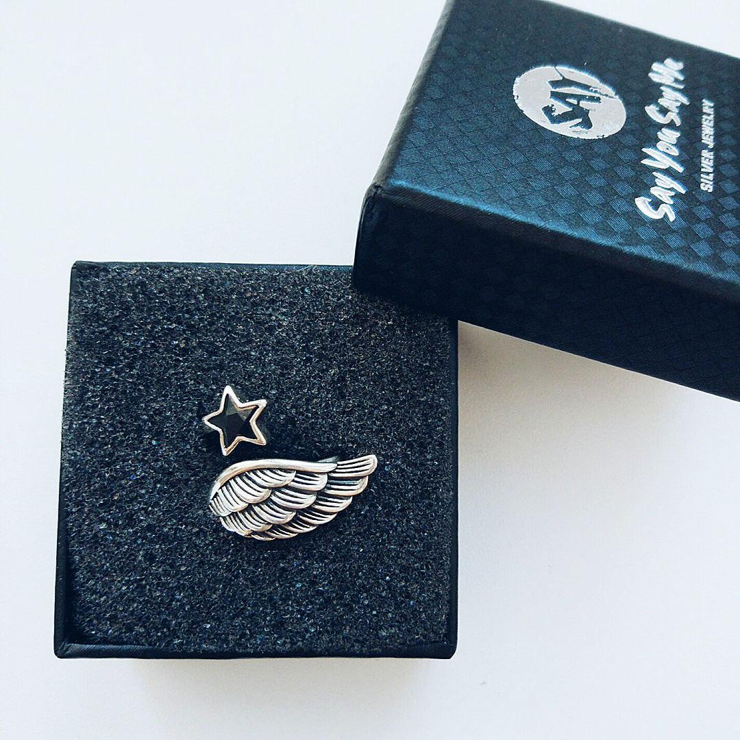 Серебряное КОЛЕЧКО с крылышком ангела от SAY YOU SAY ME