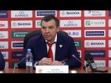 Олег Знарок. Комментарий после игры сборная России - ХК