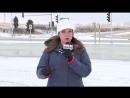 Репортер получила снежком в лицо незадолго до прямого эфира