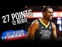 Kevin Durant Full Highlights 2018 WCF GM4 Golden State Warriors vs Rockets - 27-12! | FreeDawkins