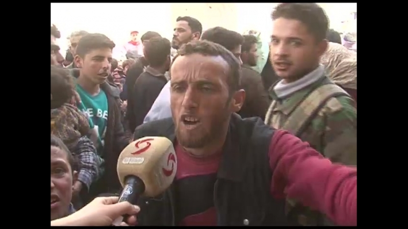 Raw footage, civilians escaping the East Ghouta