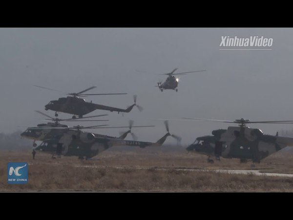 A sneak peak of flight training exercise of Xinjiang based aviation troops