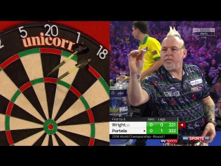 Peter Wright vs Diogo Portela (PDC World Darts Championship 2018 / Round 1)