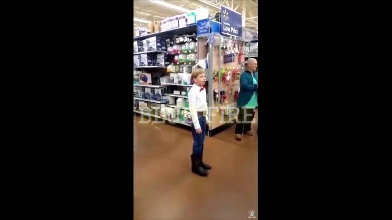 BLUD FIRE - Мальчик поёт в супермаркете (remix)
