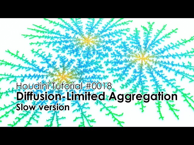 [Houdini Tutorial] 0018 Diffusion-Limited Aggregation (Slow ver.)