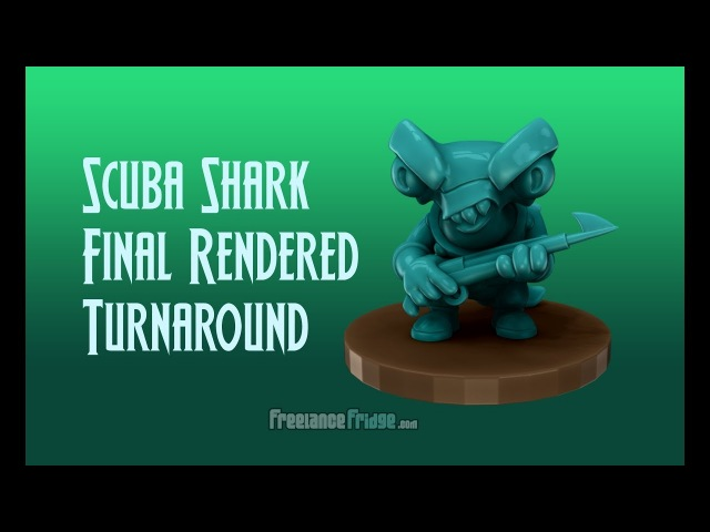 Scuba Shark Final Rendered Turnaround