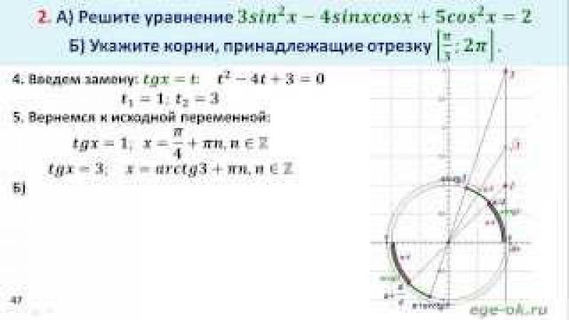 Однородное тригонометрическое уравнение