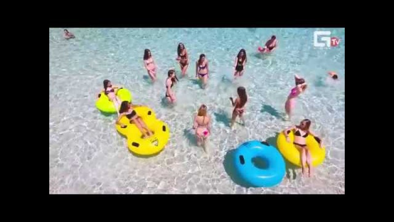 Финалистки Мисс Крым в аквапарке Атлантида