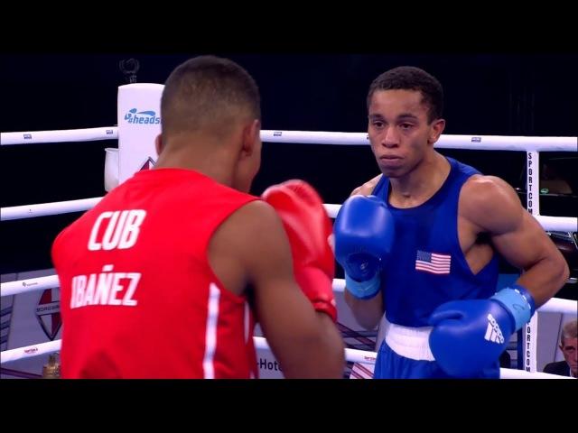 AIBA Hamburg 2017 IBANEZ DIAZ Javier CUB vs RAGAN Duke USA (56kg) Preliminaries