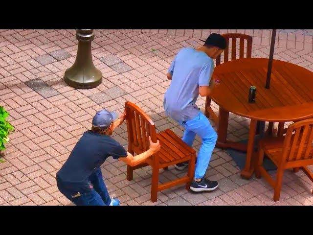 Ultimate Chair Pulling Pranks Compilation - Funniest Public Pranks 2017