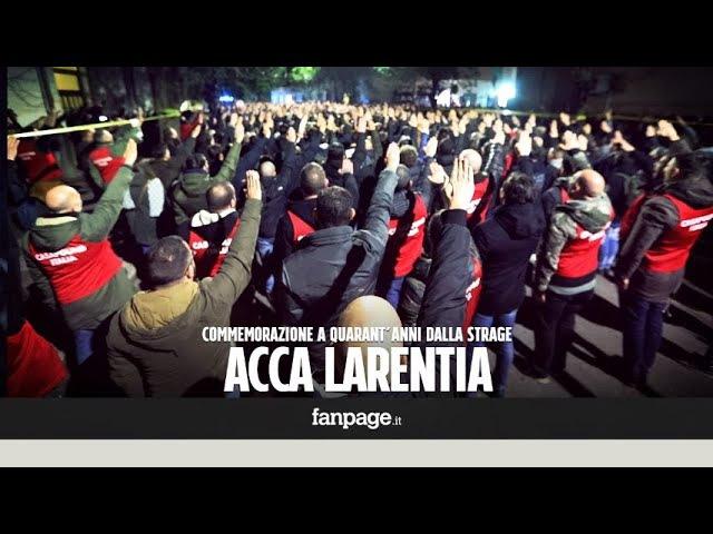 Acca Larentia, commemorazione a quarant'anni dalla strage: presente e saluti romani davanti alla sed