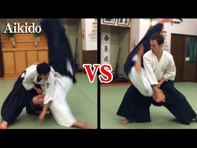 衝撃 ハイレベルな合気道の攻防 Aikido Dynamic Throwing to each other