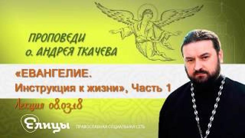 Евангелие - инструкция к жизни, часть 1 Протоиерей Андрей Ткачев 8.03.18
