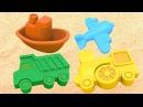 Мультики для самых маленьких Игры в песочнице! Учим цвета и Лепим куличики из п ...