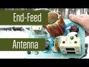 Самодельная EndFeed антенна на 40м. Диполь с питанием с краю, а не в центре.
