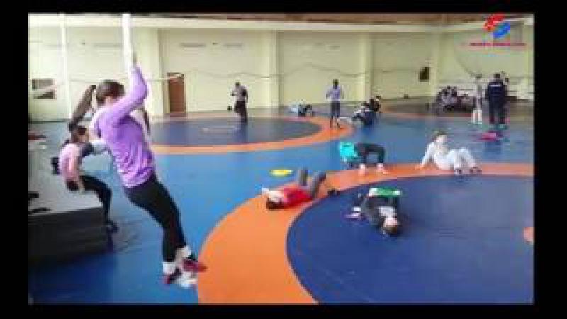 Сбор женской сборной команды по вольной борьбе. Конча-Заспа, январь 2017