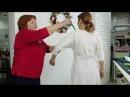 Конкурсное платье 1 Спиралевидный крой в платье штопор из двух кусков ткани Эскиз Елены Брит Часть 1