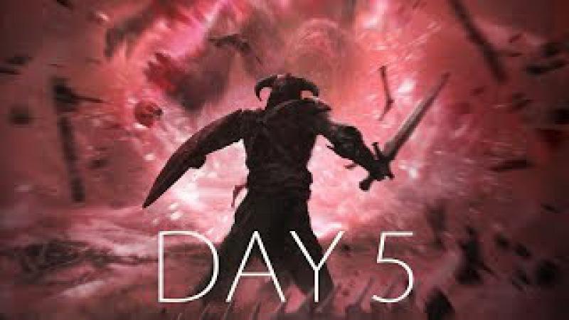 КАК СДЕЛАТЬ ДОВАКИНА БОМЖОМ? ● SKYRIM HARD - Day 5