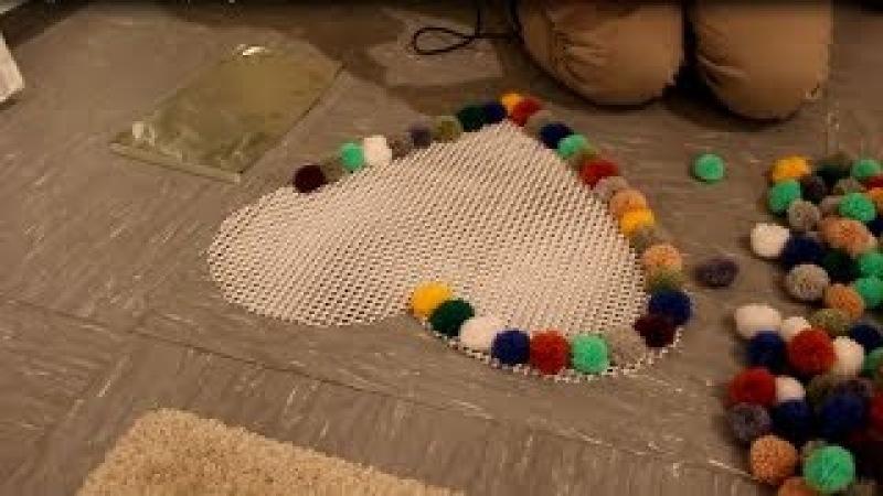 DIY Pompon - Bommel Teppich selber machen - Pompon - Bobble Carpet Tutorial