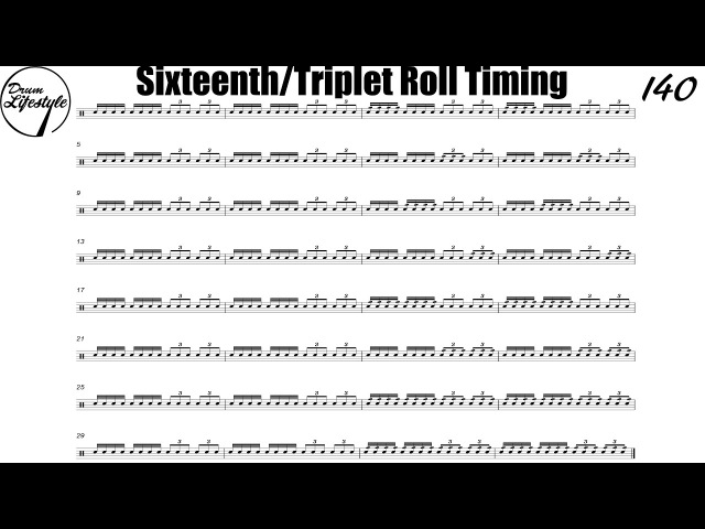 Sixteenth Triplet Roll Timing Exercise