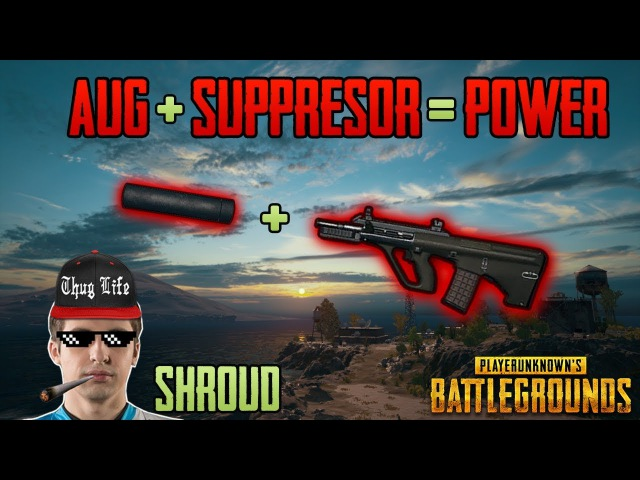 AUG SUPPRESSOR - Shroud win solo FPP game - PUBG HIGHLIGHTS TOP 1