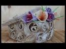 Джутовая филигрань Мастер класс по изготовлению крокусов из джута