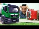 Camiones de juguete La hormigonera y el camión de gasolina