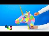 3D ЕДИНОРОГ ИЗ БУМАГИ DIY   Как сделать СВОИМИ РУКАМИ   ЧТО-ТО ПОШЛО НЕ ТАК
