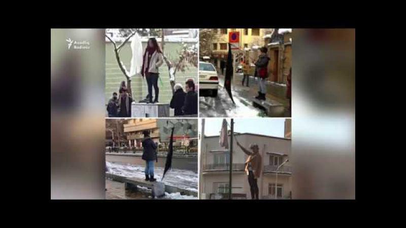 İranda qadınlar çadralarını atır və həbs olunurlar