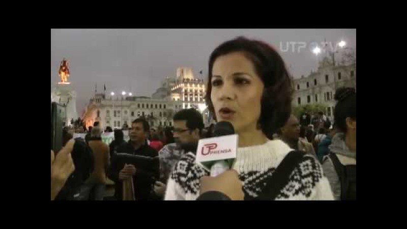 Cobertura de la marcha contra el indulto de Alberto Fujimori