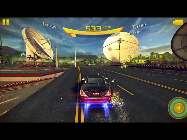 Asphalt 8. The Suturday Heat | French Guiana - 00.53.625 (Mercedes Shit Edition)