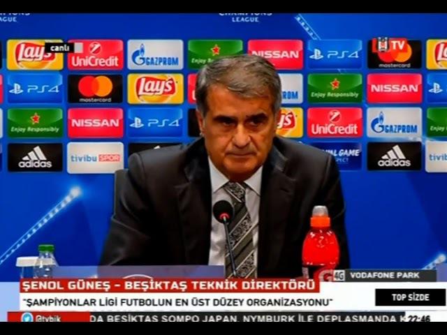 Şenol Güneş | Beşiktaş 1-1 Monaco | Basın Toplantısı | 1 Kasım 2017