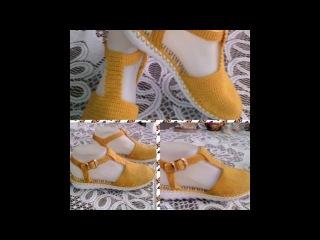 Bellas Sandalias tejidas a crochet