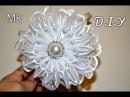 Ободок канзаши МК/Праздничный ободок/Kanzashi Headband/Tutorial/D.I.Y
