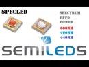 Светодиоды для растений Semileds. 440нм, 460нм и 660нм. Измерение PPFD, сравнение с Luxeon