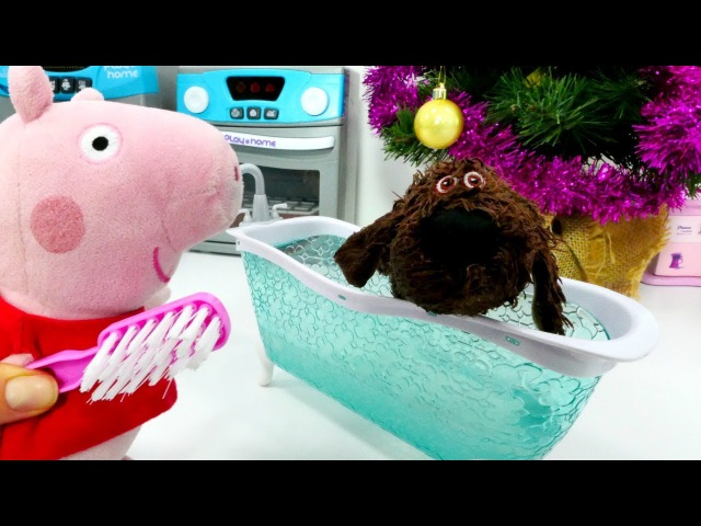 Ein Weihnachtsgeschenk für Peppa und Schorsch Spiel mit Peppa Wutz