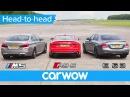 Mercedes-AMG E63 S v BMW M5 v Audi RS 5 DRAG ROLLING RACE | Head2Head