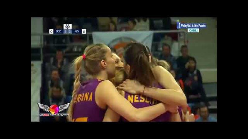 [HD] Eczacibasi (บอสโควิช) vs Galatasaray (โคเชเลวา) | 23- 12- 17 | Semi-finals | Kupa Voley Cup